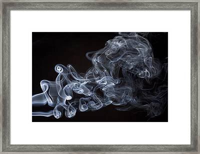 Abstract Smoke Running Horse Framed Print by Setsiri Silapasuwanchai