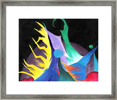 Abstract Space Framed Print by Jera Sky