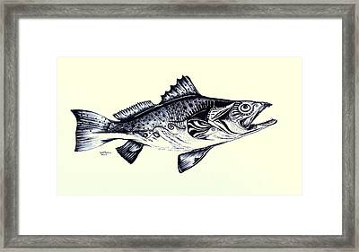Abstract Speckled Trout Framed Print