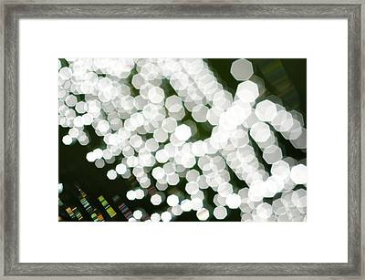 Abstract Spider's Web Framed Print