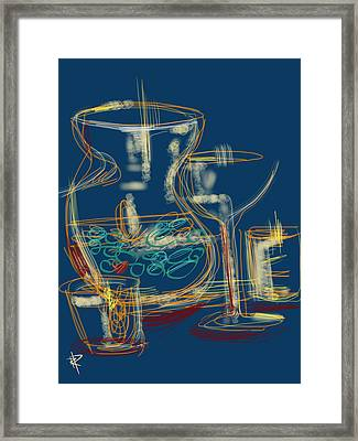 Abstract Still Life With Vase Framed Print by Russell Pierce