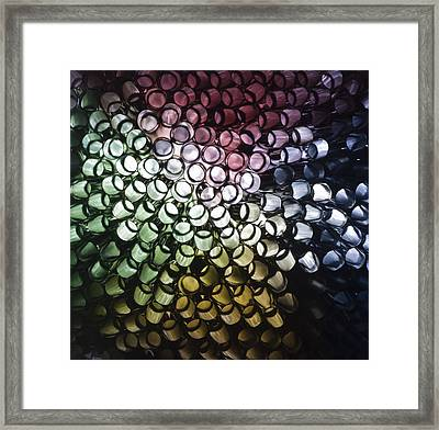 Framed Print featuring the photograph Abstract Straws by Steve Purnell