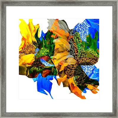 Abstract Sunflowers No 428 Framed Print