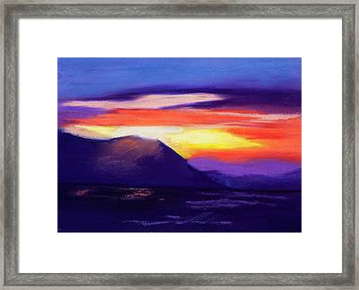 Abstract Sunset Framed Print by Diana Tripp