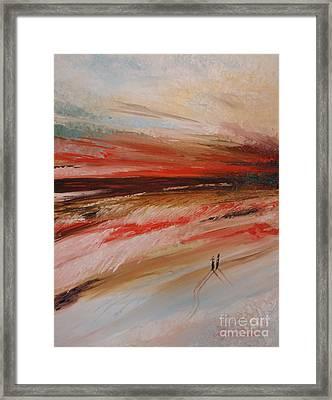 Abstract Sunset II Framed Print by Tatjana Popovska
