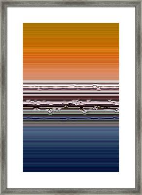 Abstract Sunset Framed Print by Michelle Calkins