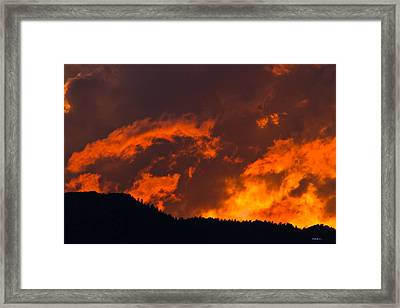 Abstract Sunset Framed Print by Mitch Shindelbower