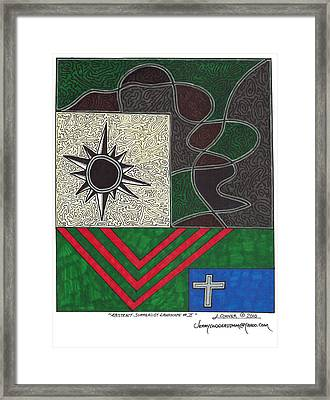 Abstract Surrealist Landscape 2 Framed Print by Jerry Conner