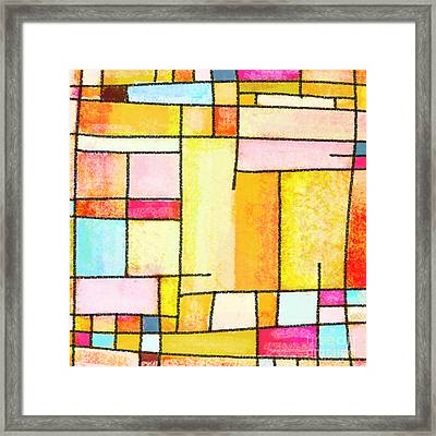 Abstract Town Framed Print