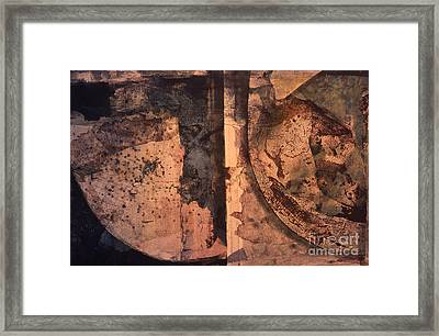 Abstract Trax I Framed Print by Charles B Mitchell