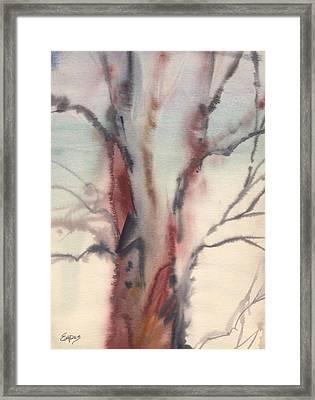 Abstract Tree Framed Print by Linda Eades Blackburn