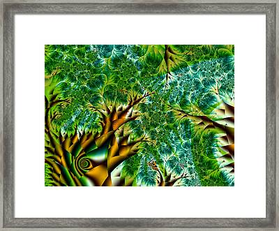 Abstract Trees Framed Print