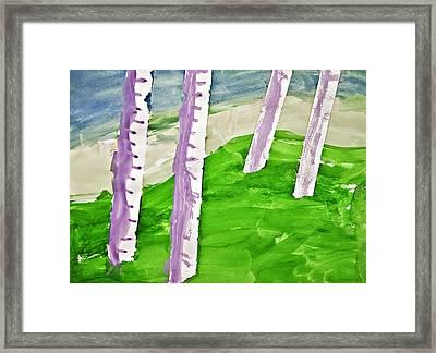 Abstract Trees Framed Print by Susan Leggett