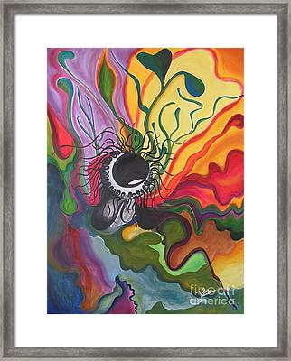 Abstract Underwater Anemone Framed Print