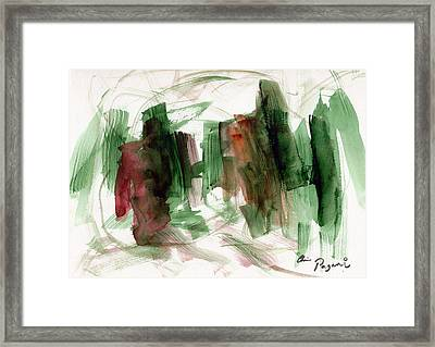 Abstract Watercolor 51 Framed Print