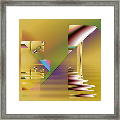 Abstract Waters Framed Print by Mario Carini