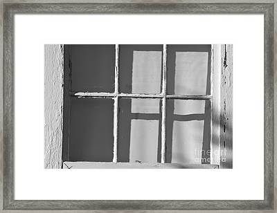 Abstract Window In Light And Shadow Framed Print