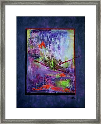Abstract With Center Framed Print by Karin Eisermann