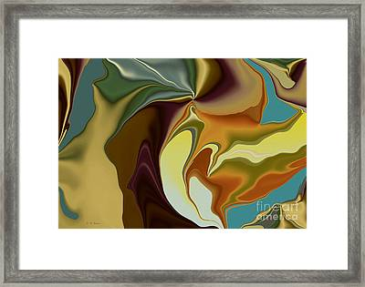Abstract With Mood Framed Print by Deborah Benoit