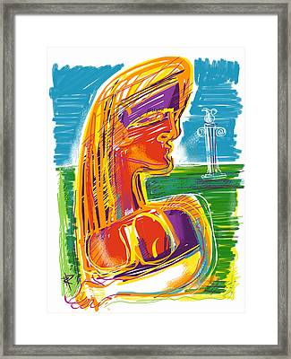 Abstract Woman Framed Print by Russell Pierce