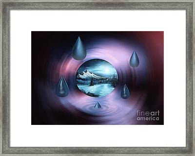 Abstract World Framed Print by Bruno Santoro