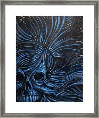 Abstracted Skull Framed Print by Joshua Dixon