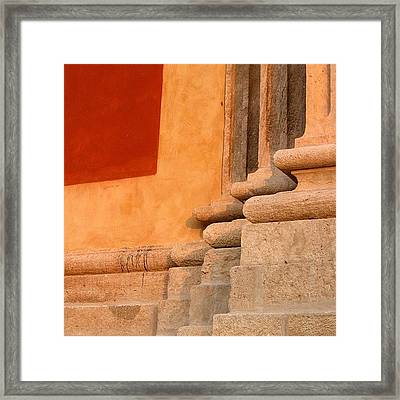 Abstraction #basilica #italy #shapes Framed Print