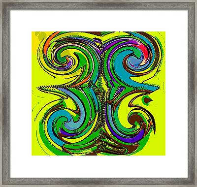 Abstracto Del Lunes 2 Framed Print by Rod Saavedra-Ferrere