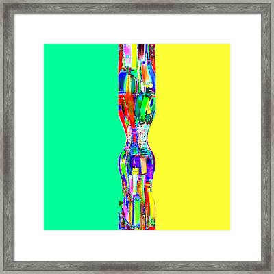 Abstracto Del Lunes Framed Print by Rod Saavedra-Ferrere