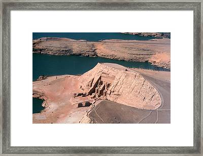 Abu Simbel From The Air Framed Print by Joe & Clair Carnegie / Libyan Soup