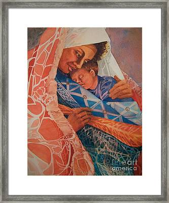 Abuela Two Framed Print by Judith A Smothers
