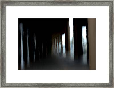 Framed Print featuring the mixed media Abyss by Terence Morrissey