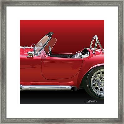 Ac Cobra Detail Framed Print