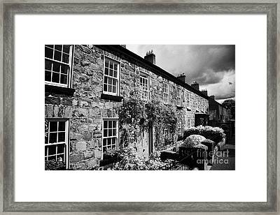 Academy Street In 18th Century Gracehill Village A Moravian Settlement In County Antrim Ireland Framed Print