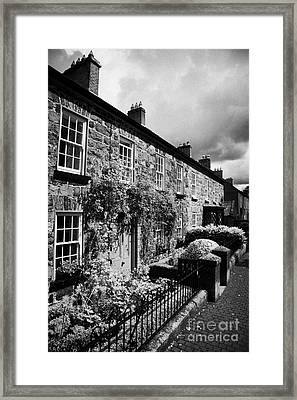 Academy Street In 18th Century Gracehill Village A Moravian Settlement Framed Print
