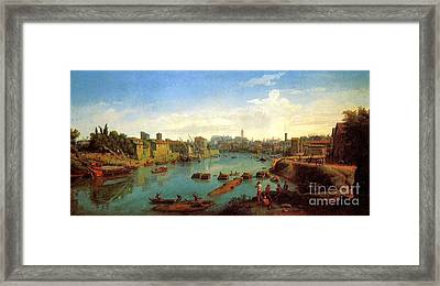 Accademia Nazionale Di San Luca By Caspar Van Wittel Framed Print by Pg Reproductions