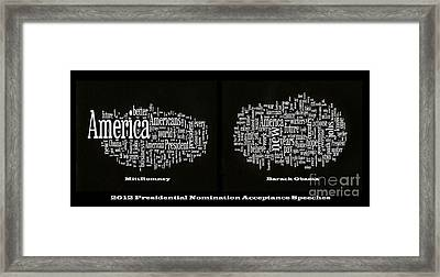 Acceptance Speeches Framed Print