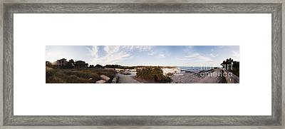 Access To The Beach Of Es Trenc Framed Print