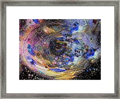 Accreation Disk Framed Print by Charles Carlos Odom