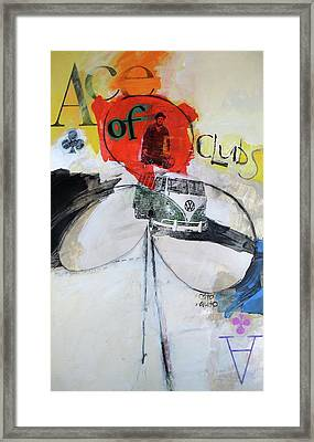 Framed Print featuring the painting Ace Of Clubs 36-52 by Cliff Spohn