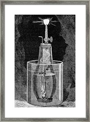 Acetylene Lamp, Artwork Framed Print by