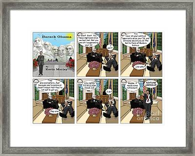 Achtung Amerika Framed Print