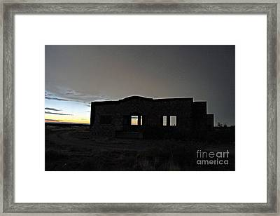 Acme School At Twilight Framed Print