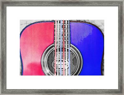 Acoustic Guitar - Americana Framed Print by Steve Ohlsen