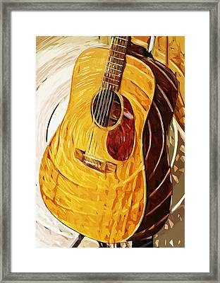 Acoustic On Stand Framed Print by Tilly Williams