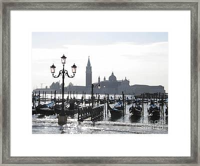 Acqua Alta . Venice Framed Print by Bernard Jaubert