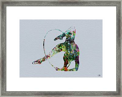 Acrobatic Dancer Framed Print by Naxart Studio