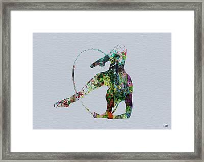 Acrobatic Dancer Framed Print by Naxart Studio
