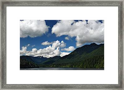 Across Capilano Lake Framed Print by Julie VanDore