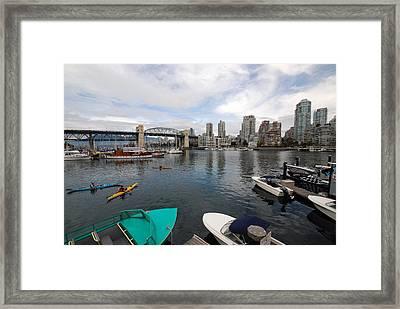 Framed Print featuring the photograph Across False Creek by John Schneider